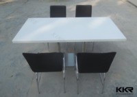 Very Popular Style Dining Table In USA , Solid Surface Dining Table