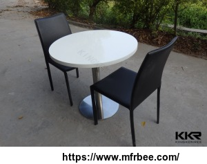 kkr_white_round_solid_surface_coffee_table_coffee_shop_tables_and_chairs