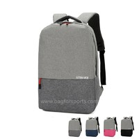Water Resistant Travel Hiking Camping Business Polyester Laptop Backpack Backpacks Daypack Fits 15 15.6 Inch Laptops - Grey