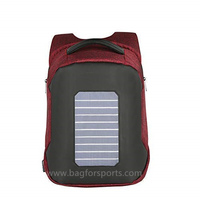 Solar Backpack Waterproof and Anti-Theft, perfect for carrying books or laptop to work, school or hiking while charging your smart phone, tablet, or a power bank and more, Great for traveling.