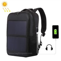 14W Solar Backpack, Solar Panel Powered Backpack Water Resistant Laptop Bag with USB Charging Port Solar Charger for Travel Business and School, Large Capacity 15.6'' Laptop Thoughtful