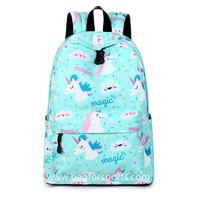 Lightweight Unicorn Backpacks College Student Cute Bookbag Shoulder Bag Daypack