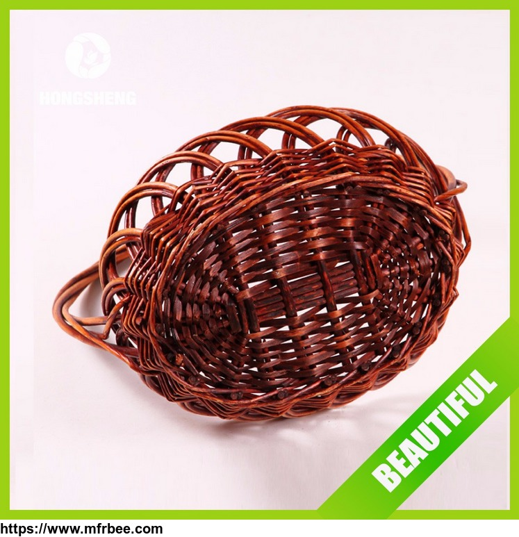 traditional_handmade_natural_material_wicker_fruit_basket_with_handle