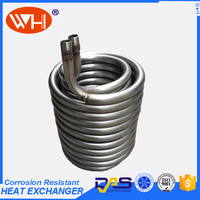 ISO Certification coil evaporator cooling 1hp of steel spiral tube heat exchanger