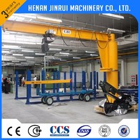 Factory Direct Sale Electric Hoist Floor Mounted Cantilever Jib Crane 5Ton