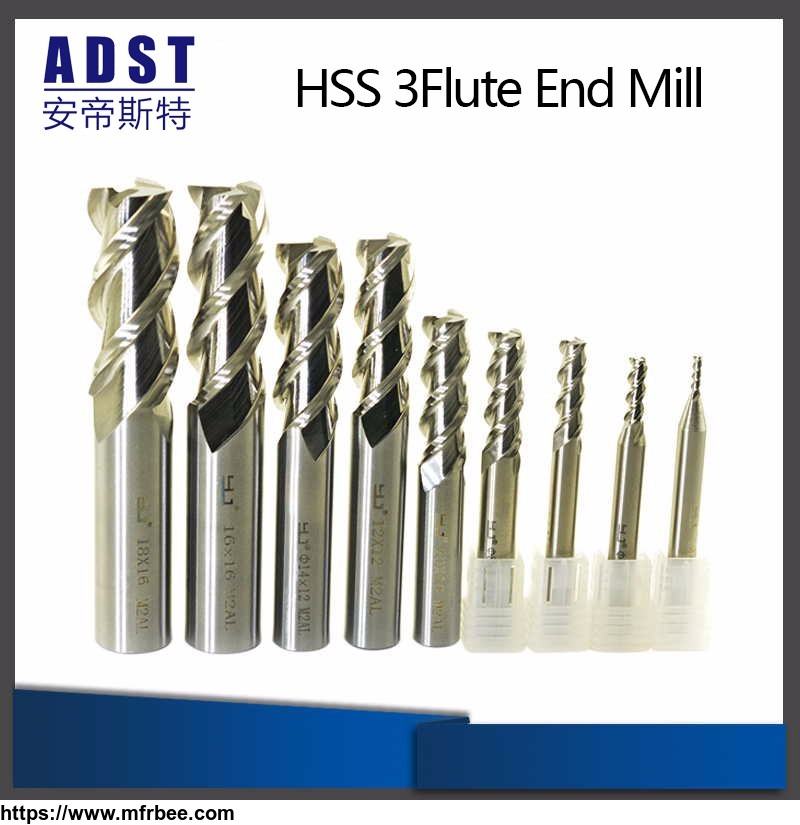 Manufacture End Mill HSS M2ai 3flute Milling Cutter