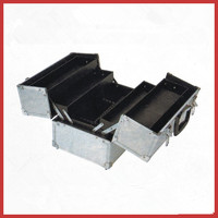 New Quality Silver Aluminum Tool Case with Extendable Trays Custom