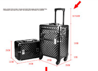 Professional fashionable Water Cube shape hairdressing aluminum makeup storage case,makeup storage boxes