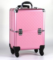 Custom Professional & Stylish PVC High Quality Hairdresser Beauty Case Travelling Professional Hairdresser Trolley Case