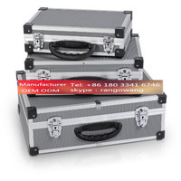 Varo Silver Nest of 3 Aluminium Storage Cases Carry Case Triple Set Small / Medium / Large with Handle & Lockable Clasp  PRM10120
