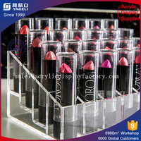 Clear 24-Slot Acrylic Lipstick display stand cosmetics holder container