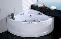 Acrylic Corner massage whirlpool bathtub