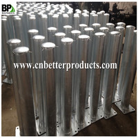 Shock Absorbing or Rebound Bollards with steel material
