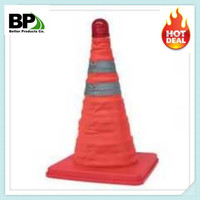 High Quality Reflective Collapsible LED Light Traffic Cone