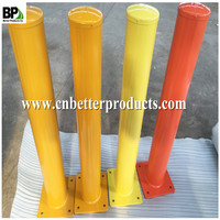 Round Steel traffic and roadway Safety Bollards