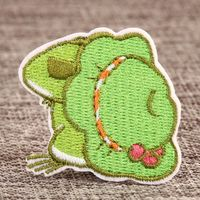 Travel Frog Custom Made Patches