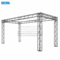 Cheap price lectern metal aluminum aluminium light stage backdrop arch fome roof truss frame system for sale