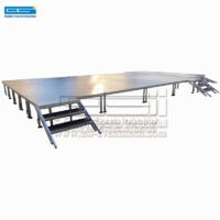 Cheap used portable outdoor performance wooden banquet riser event lighting stage platform for sale