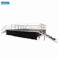 Mini portable music moving indoor catwalk runway modular movable stage platform system