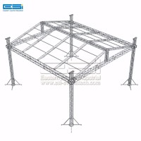Cheap price square sound lightweight backdrop aluminum lighting roof stage truss structure system