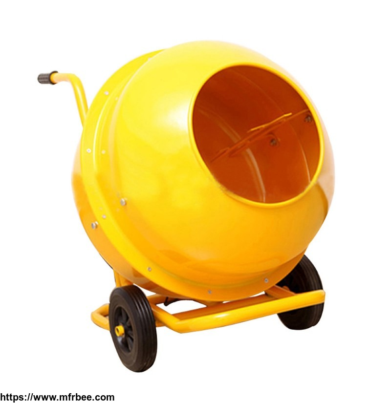 mobile_electrical_wheelbarrow_style_mini_cement_mixer