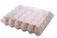 Customized wholesale refrigerator crisper egg packaging container clamshell box biodegradable PET plastic clear quial egg tray