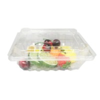 food grade fruit tray liner clamshell plastic salad container