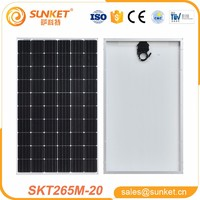 high efficiency mono 260w solar panel for industrial home solar panels system