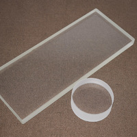 High temperature resistant clear quartz glass plate