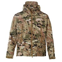 Outdoor TAD Hunting Military Tactical Hiking Waterproof Softshell Jacket Men With Hood