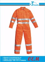 Customized safety cotton high-visible coveralls