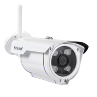 Sricam SP007 Wireless Wifi Outdoor Waterproof Alarm Promotion IR-CUT Night Vision Bullet IP Camera with SD Card Slot