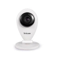 Sricam SP009 P2P H.264 Wireless Wifi Two Way Audio Baby Security Indoor IP Camera with 3.6mm Lens and SD Card Slot