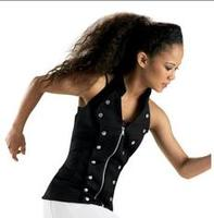 dance clothes for women Dance Zip-front Military Vest
