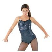 gold sequin dance tops Dance Hologram Sequin Leotard