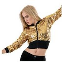 Dance Wide Waistband Sequin Jacket