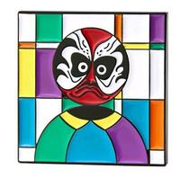 GS-JJ Square Drama Mask Enamel Lapel Pin
