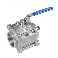 Good quality Cheap Stainless steel precision casting threaded 3PC Ball Valve