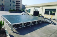 Hall events used mobile stage with skirt