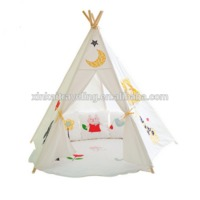 children kids play indian teepee tent