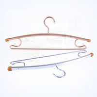 HJF-ZC rose gold copper metal hangers, coating metal hangers,underwear bra metal hangers
