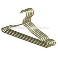 HJF-SC1 Eco-friendly Aluminum metal notched clothes hanger rose gold coat hanger