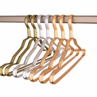 Unique aluminum clothes hanger durable coat hanger with reasonable price