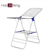 Butterfly style stainless steel clothes drying rack folding clothing drying rack