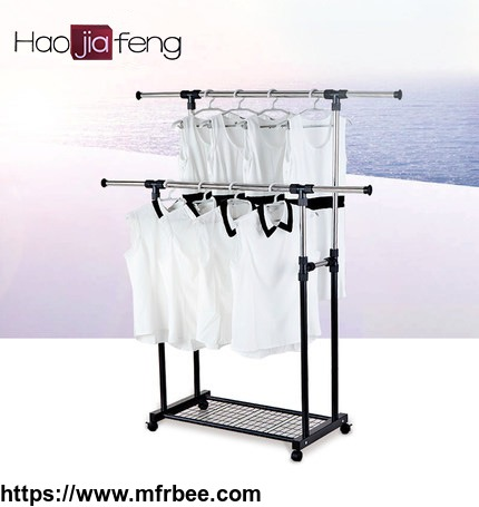 unique_stainless_steel_clothes_hanger_expandable_garment_rack_with_low_price