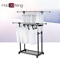 Unique stainless steel clothes hanger expandable garment rack with low price