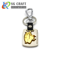 Manufacturer wholesale custom cheap personalised leather pvc metal keyrings