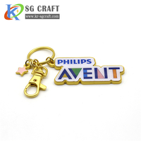 Custom high quality metal keyring with logo your own design