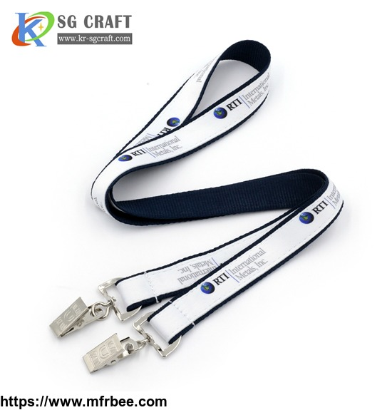 polyester_material_cheap_double_clip_custom_double_woven_lanyards