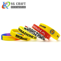 Factory Supply Rubber Wrist Band Men Bracelet Custom Silicon Wristband